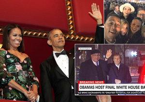 Americký prezidentský pár pořádal rozlučkovou party.