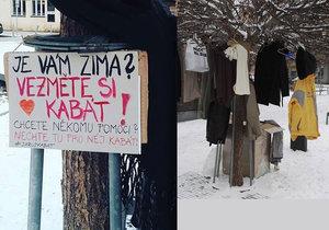 """Na """"náměstíčku u koní"""" si bezdomovci mohou vzít teplé oblečení."""