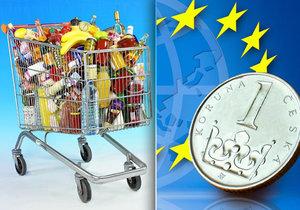 Zajímá Vás, jaké jsou ceny potravin v Česku v porovnání s Evropskou unií?