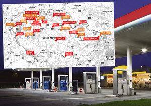 Problematické čerpací stanice v Česku