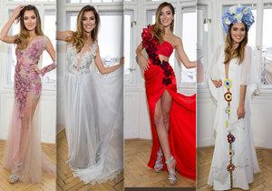 Krásná Andrea Bezděková si veze na Miss Universe třináctery šaty.