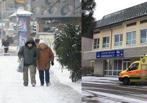 Pražští záchranáři vyjížděli v Praze ke dvěma desítkám úrazů chodců.