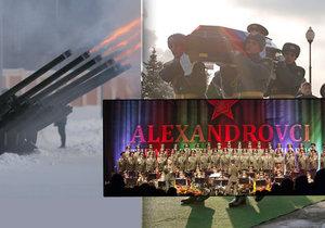 Rusko se rozloučilo s tragicky zesnulými členy souboru Alexandrovci.