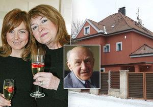 Pavlína Wolfová s maminkou Pavlínou Filipovskou přišly o vilu po legendárním Františku Filipovském.
