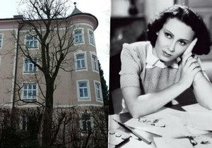 V tomto domě žila a zemřela Lída Baarová.