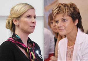 Do ministryně Kateřiny Valachové (ČSSD) se pustila poslankyně Nina Nováková (TOP 09)