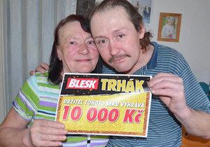 Radim Jurčeka s maminkou Lidmilou, které chce z výhry koupit dárek k narozeninám.