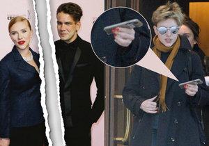 Scarlett Johansson byla spatřena bez snubního prstenu.