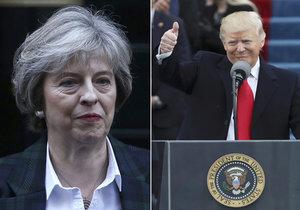 Máme úžasné vztahy, notoval si Trump s Mayovou. A pro změnu podpořil NATO.