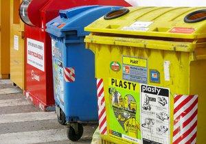 Popelnice na tříděný odpad, (ilustrační foto)