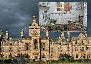 Opuštěná psychiatrická léčebna v Denbighu (Wales)