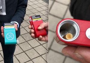 Díky mobilnímu popelníčku nemusí lidé vyhazovat nedopalky na zem, když není v okolí koš.