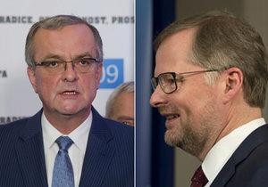 Miroslav Kalousek a Petr Fiala jedou za voliči.