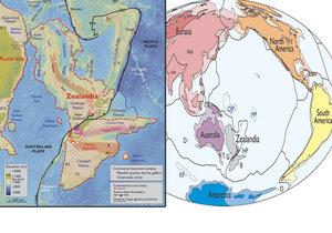Nový kontinent je pod mořem východně od Austrálie.