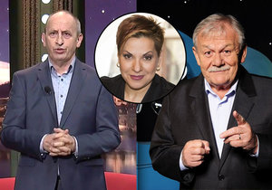 Moderátoři Karel Šíp a Jan Kraus válčí o hosty.