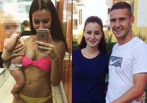 Tereza Chlebovská vzala svoji dcerku na plavání.