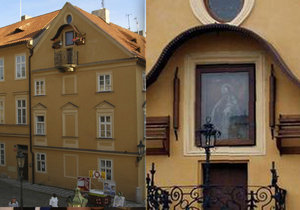 Na domě v ulici Na Kampě 9 visí obraz Panny Marie. Víte proč?