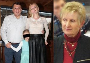 Naposledy vnučku (dnes Margaritku sedmiletou) viděla, když byla ještě miminko. Na snímku je s ní a Petřiným nevlastním tátou Janem Černým.
