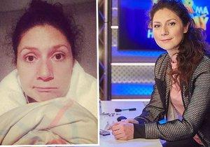 Martha Issová má komplikace během natáčení Tvoje tvář má známý hlas.
