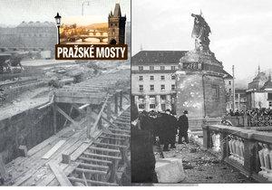 Palackého most prošel počátkem 50. let opravou. Poškodilo ho bombardování během války.