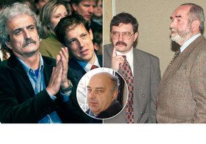 Čeští ministři, kteří odešli na věčnost: Dostál, Gross, Svoboda i Lux s Tigridem.