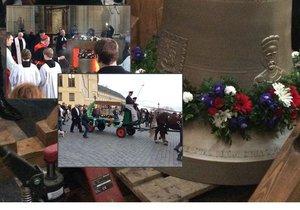 Zvonu Václav požehnali v katedrále, poté ho převezli do kostela svatého Havla.