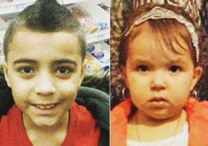 Richie Zaragoza (10) a jeho nevlastní sestřička Ginaya Mendoza (4) se otrávili džusem s metanolem.