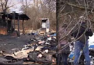 Při hašení požáru chatky v Brně–Černovicích hasiči našli mrtvého muže.