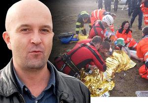 Milan Vorlíček (+47), zvukový režisér Městského divadla v Brně, zemřel. Čtyři dny bojoval v nemocnici o život poté, co jej hasiči vylovili z ledové vody v lomu Hády.