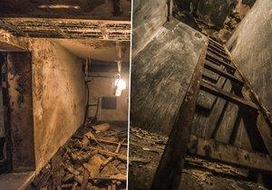 Pod Smíchovským nádraží se nacházejí místnosti, ty dříve plnohodnotně sloužily jako atomový kryt.