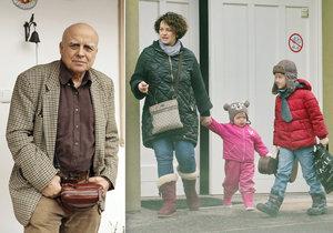 První snímky utajované rodiny a dětí muzikanta Ivana Mládka