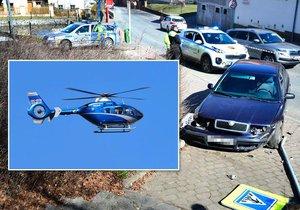 Policisté stříleli po ujíždějícím trestanci, pátrá po něm vrtulník.