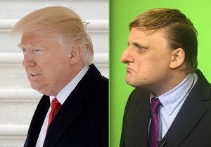 Komik Lukáš Pavlásek si hraje na Trumpa.