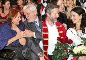 Které zamilované páry dorazily na premiéru muzikálu Čas růží?