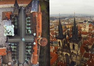Scott Goodson pořídil unikátní záběry Chrámu sv. Víta i Týnského chrámu.