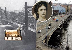Štefánikův most v Praze nese stopy historie, které vedou až k císařovně Sissi.