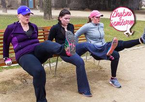 Boubelky Bára, Lucie a Markéta si daly venkovní trénink. Trenérka Denisa Balakovská holky vůbec nešetřila.
