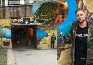 Podchod maloval Dalibor s přítelkyní sedm nocí.