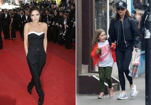 Victoria Beckham si vyšla s dcerkou do ulic.