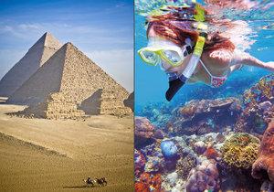 Více než hrobky králů turisty do Egypta táhne podmořský život.