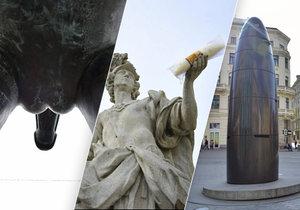 V Brně snad na každém kroku najdete kuriózní sochy, značky, nápisy...