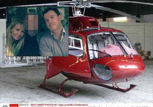 Při havárii helikoptéry zemřel patrně i milionářský pár.