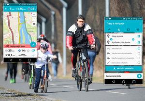 Cyklisté v Praze mohou využívat novou aplikaci jako navigaci i komunitní kanál.