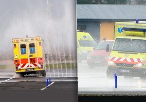 I řidiči záchranky musí být skvěle připravení na nečekané situace v pražské dopravě.