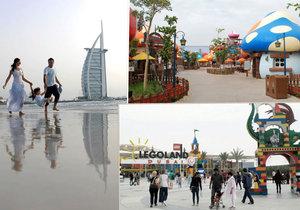 Dubaj: V nových zábavních parcích se i dospělí stanou znovu dětmi.