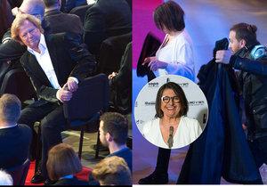 Maroš Kramár lomcoval židlí, Kronerová běžela na pódium málem v kabátě.