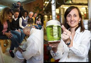 Tradice na Zelený čtvrtek: Papež umyje opět nohy vězňům, Češi si připijí zeleným pivem.