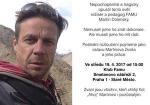 Záhadná smrt režiséra Vyprávěj Dolenského: Pohřeb pojmou jako oslavu!