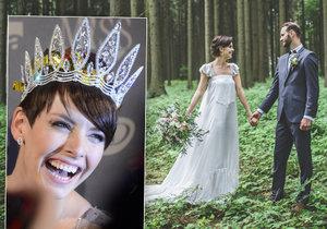 Gabriela a Filip se vzali v červnu 2016, svatba se uskutečnila v malebné přírodě na Vysočině, odkud nevěsta pochází.