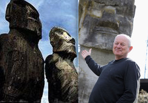 Pavel Pavel naučil chodit obří sochy moai naVelikonočním ostrově.